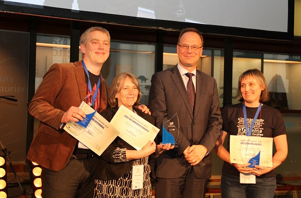 The project founders with Commissioner Tibor Navracsics at the European Awards ceremony