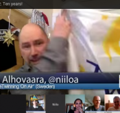 Screenshot from eTwinning on air's episode about the 10th anniversary